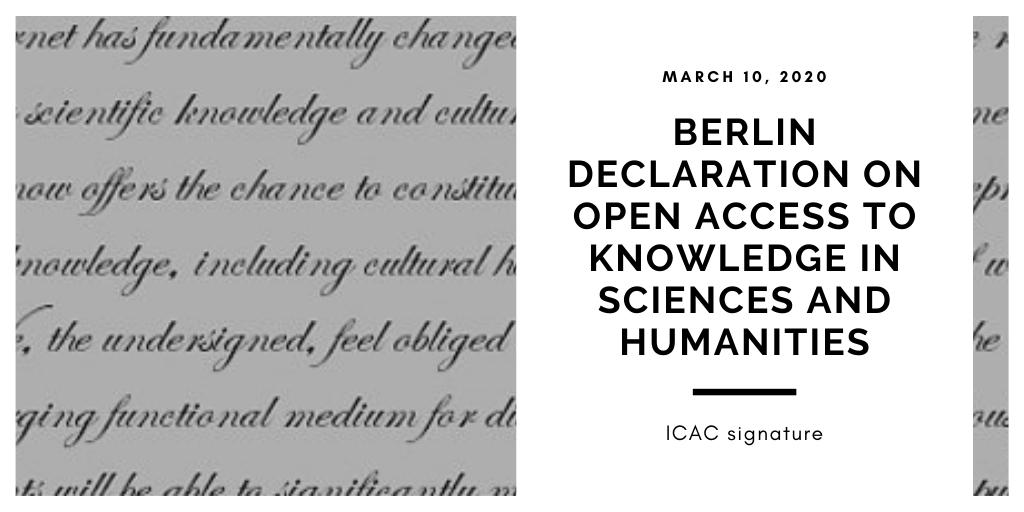 ICAC signature Berlin Declaration