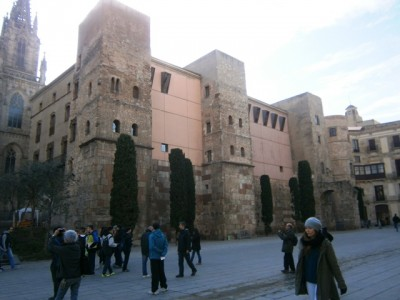 Vista de la muralla de Barcelona.