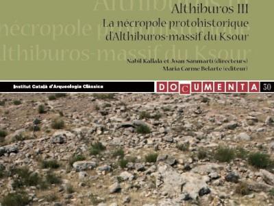 Fragment de la coberta del tercer volum sobre Althiburos publicat per l'ICAC.