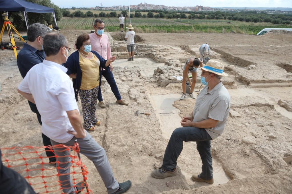 Visita institucional al jaciment de Mas dels Frares, juliol 2020. Foto: Alba Mariné.
