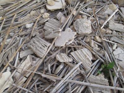 Restes constructives en una construcció recent enderrocada. Imatge: Belarte i Pastor (2021).