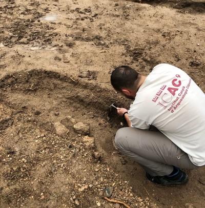 Treballs d'excavació al jaciment de Mas dels Frares, 2021. Foto: ICAC.
