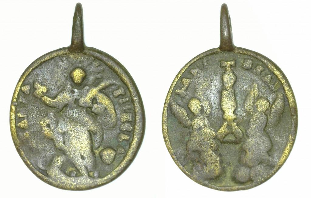 Medalla de santa Tecla. Imatge publicada a l'article al Butlletí Arqueològic V (2021). Foto: Iñaki Matias, ICAC.