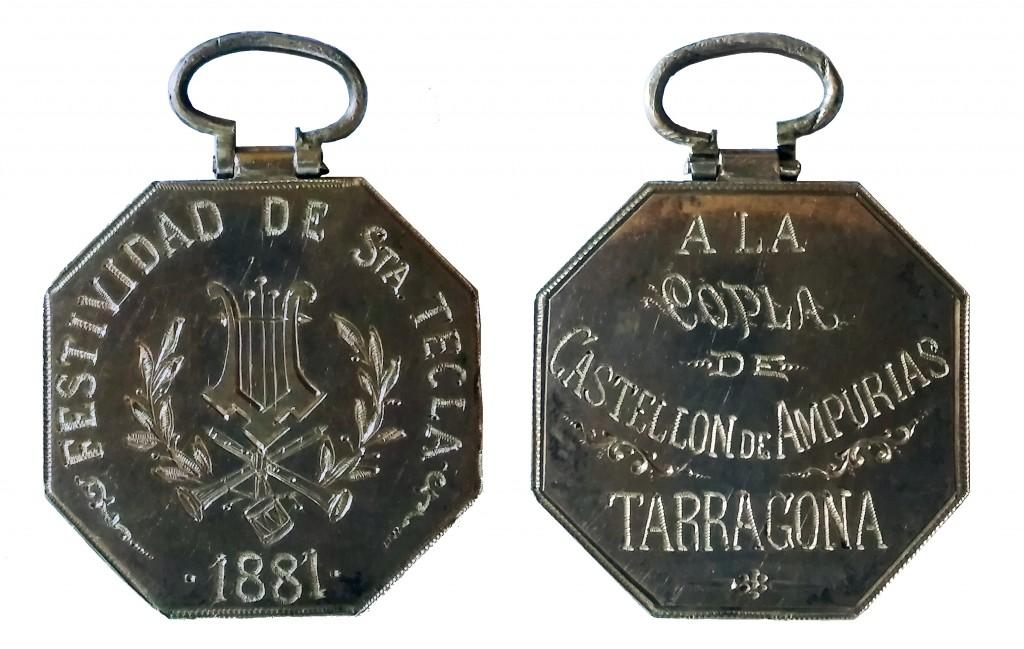 Anvers i revers de la medalla commemorativa de l'Ajuntament de Tarragona. Foto: ICAC.