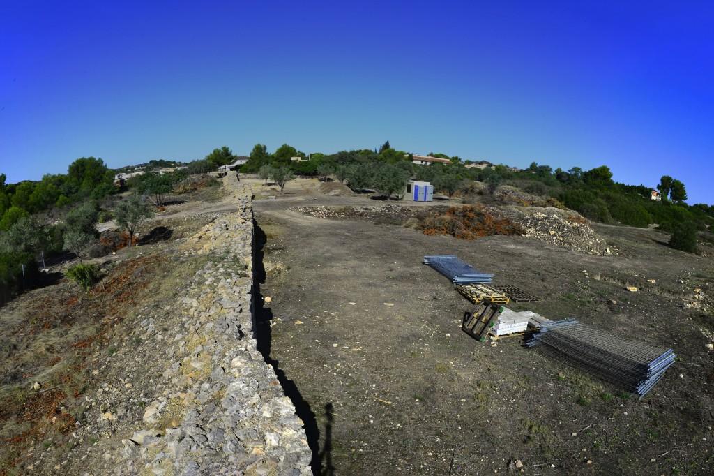 """Vista panoràmica del jaciment de València """"la Vella"""", 2021. Foto: ICAC."""